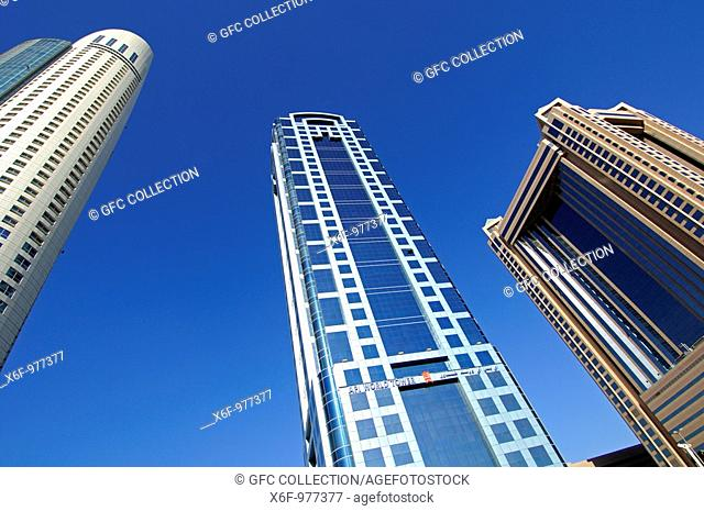 f l t r  Park Place Tower, API World Tower, Fairmont Tower, skyscrapers in Sheikh Zayed Road, Dubai, United Arab Emirates
