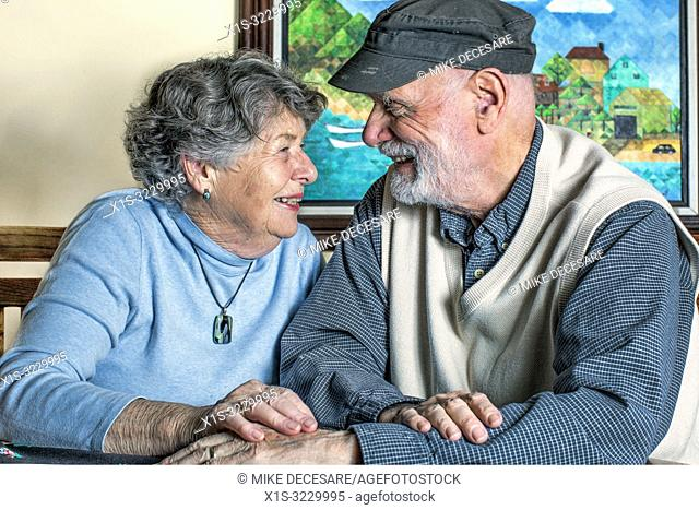 An elderly couple in Washington in the United States, finds love and laughter everyday in life and in the art