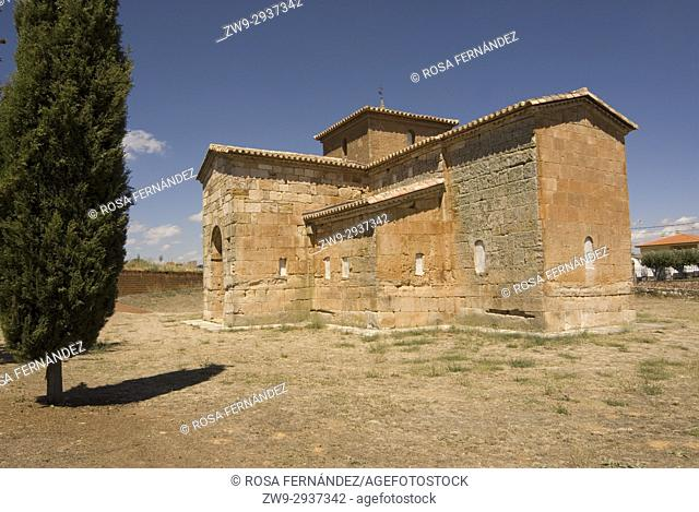 Visigothic church of San Pedro de la Nave made of red sandstone, Seventh Century, Historic and Artisitc National Monument, El Campillo, province of Zamora