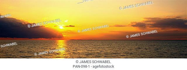 Sunset over Lake Erie, near Buffalo, New York, USA