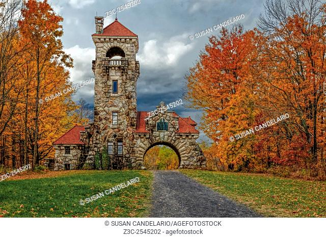 Mohonk Preserve Gatehouse - Surrounded by the warm and bright colors of fall foliage which make this area of New Paltz, New York a popular travel destination