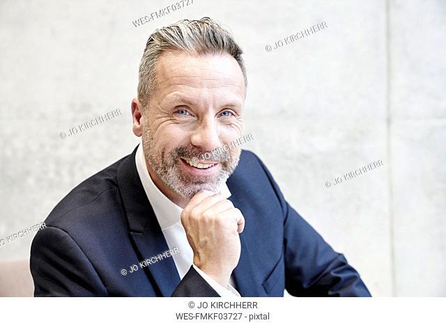 Portrait of smiling businesssman