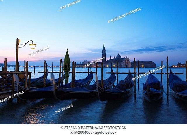 San Giorgio Maggiore at dawn, Venice, Italy