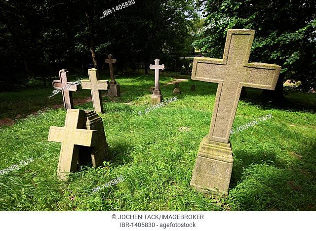 Cemetery of Vilmnitz in Putbus, Ruegen island, Mecklenburg-Western Pomerania, Germany, Europe