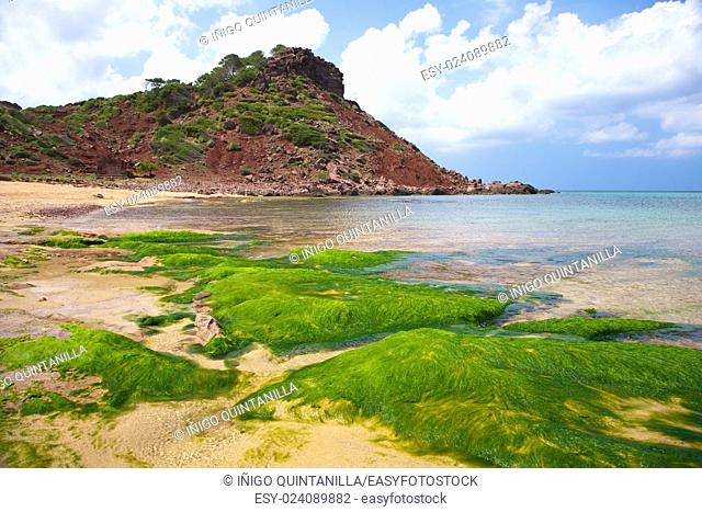 Pilar beach at Menorca island in Spain