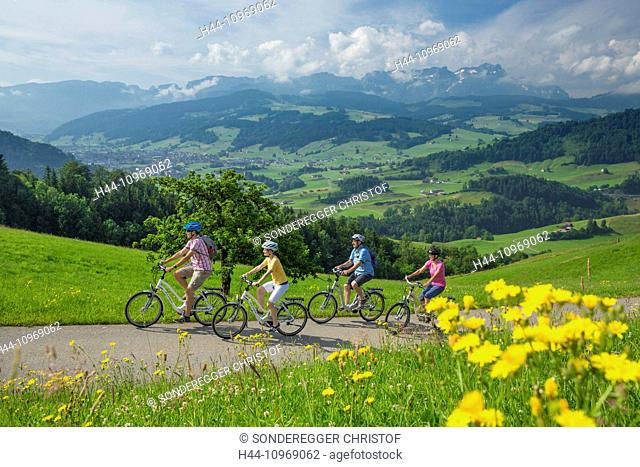 Heart route, biker, heart route, bicycle, bicycles, bike, riding a bicycle, canton, Appenzell, Innerroden, Flyer, eBike, electric bicycle, Alpstein, Säntis
