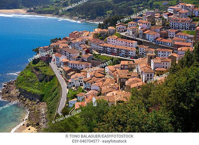 Lastres Colunga village in Asturias of Spain