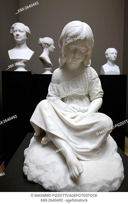Statues at Ny Carlsberg Glyptotek museum, Copenhagen, Denmark