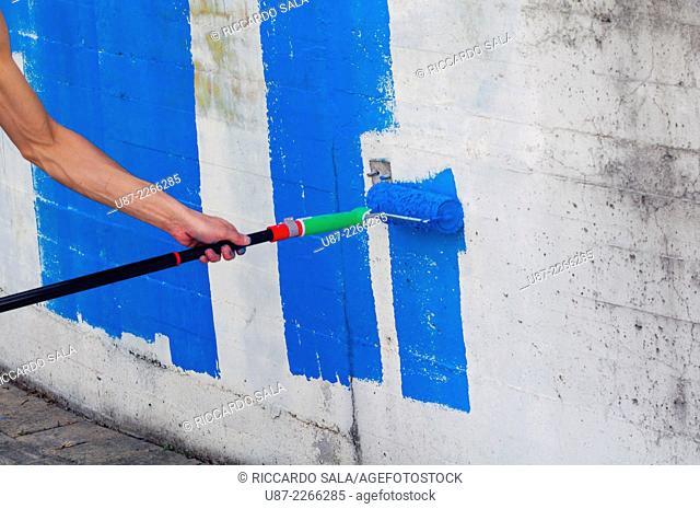 Platen Paint Roller Blue