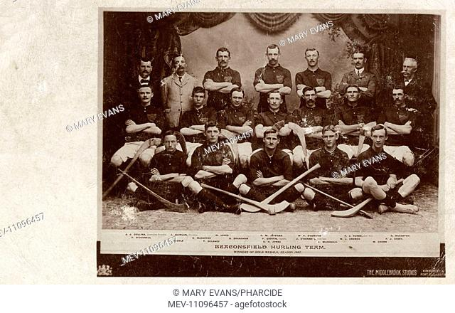 Beaconsfield hurling team, Kimberley, Cape Colony, Griqualand West, South Africa. They were gold medal winners