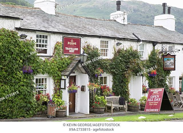 Travellers Rest Pub and Hotel, Grasmere, Lake District; England; UK