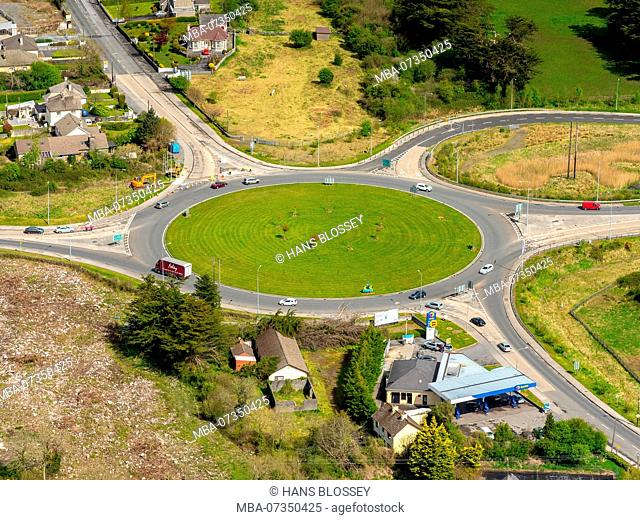 Roundabout at Ennis, Ennis, County Clare, Clare, Ireland, Europe