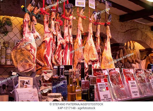 Mercat de la Boqueria, also called Mercat de Sant Josep or just La Boqueria, Barcelona, Spain