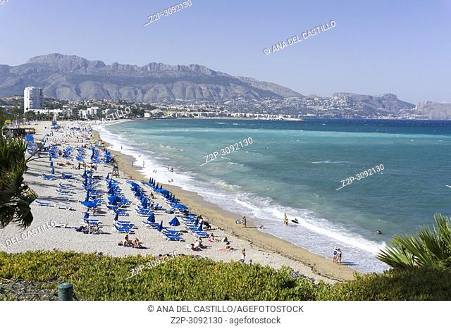 Albir beach in Alfaz del Pi Alicante province Spain