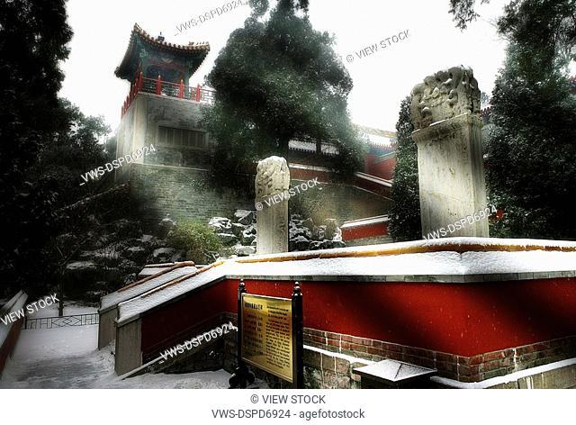Snowscape Around The Forbidden City,Beijing,China