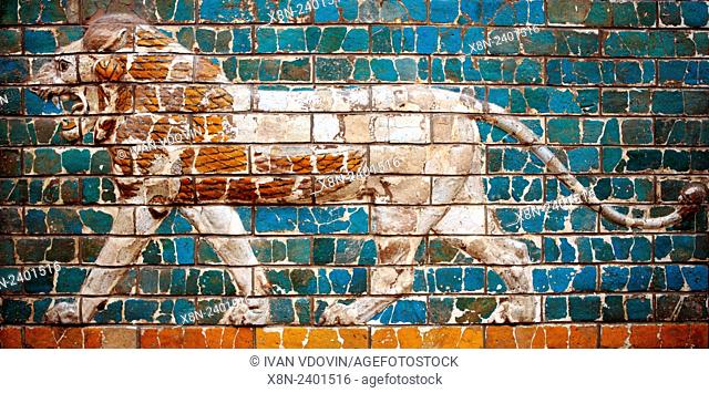 Lion, Model of Ishtar Gate, Istanbul Archaeology Museums, Istanbul, Turkey