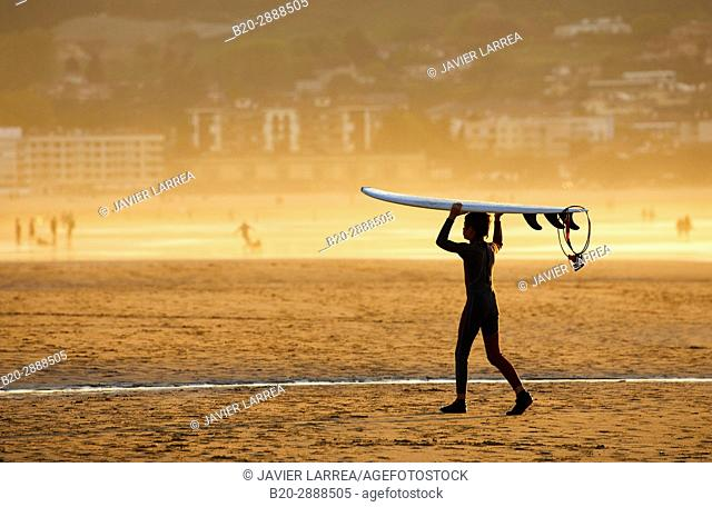 Surf, Beach, Hendaye, Aquitaine, Pyrenees Atlantiques, France