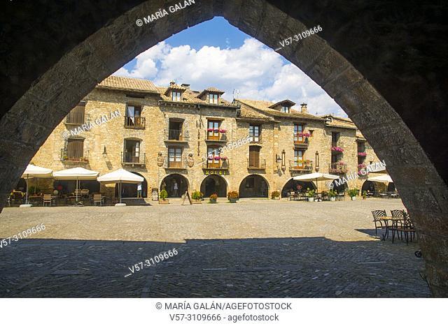 Plaza Mayor. Ainsa, Huesca province, Spain