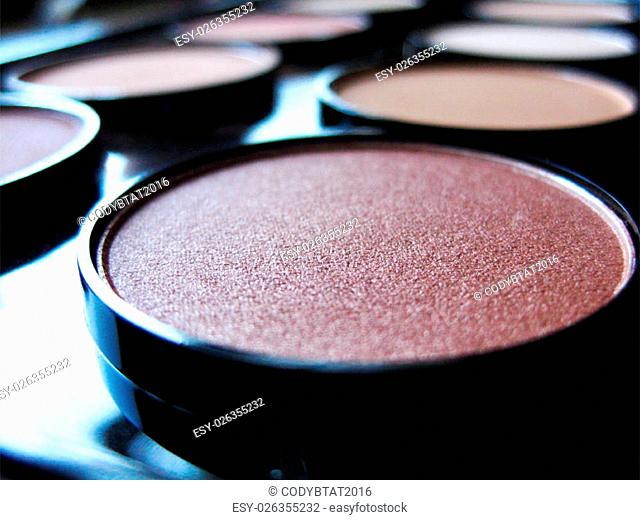 a brown make up palette for cosmetics