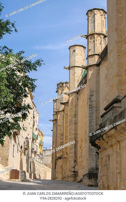 Tortosa, historical downtowm, Cathedral, XIVth to XVIII centuries, Tortosa, Ebro river, Tarragona, Catalunya, Spain