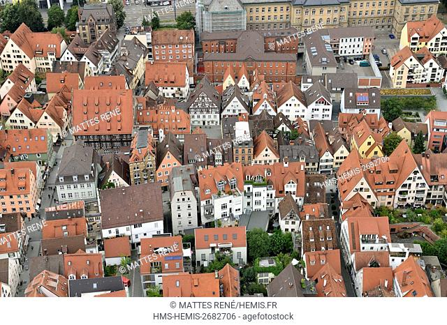Germany, Bade Wurtemberg, Ulm, Albert Einstein' s birthplace, Fischerviertel, fishermen and tanners district