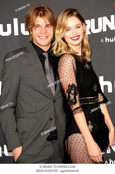 Celebrities attend 'Runaways' film premiere at Regency Bruin Theatre in Westwood. Featuring: Graham Rogers, Virginia Gardner Where: Los Angeles, California