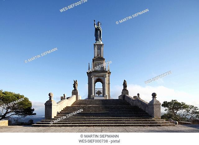 Spain, Balearic Islands, Majorca, Felanitx, Monument del crist rei