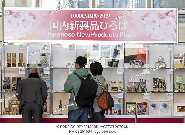 March 8, 2019, Chiba, Japan - Visitors gather at the 44th International Food and Beverage Exhibition (FOODEX JAPAN 2019) in Makuhari Messe