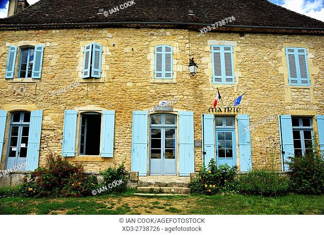 town hall, Limeuil, Dordogne Department, Aquitaine, France