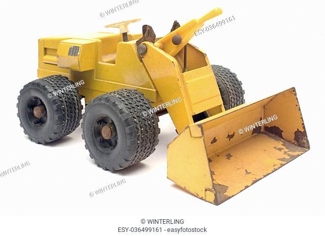 Excavator model isolated on white
