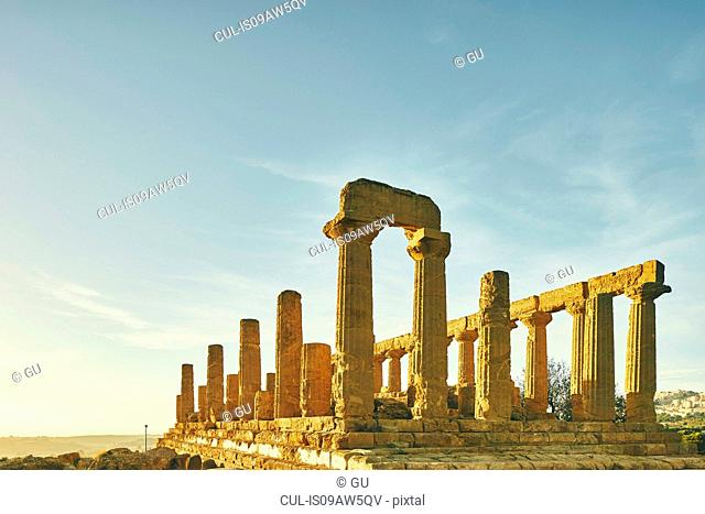 Temple of Juno, Valley of Temples, Agrigento, Sicily, Italy