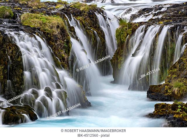 Waterfall Bruarfoss, Southern Region, Iceland