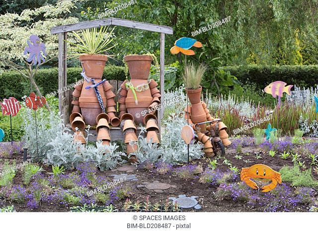 A marine garden area in the Children's Garden at Oregon Gardens