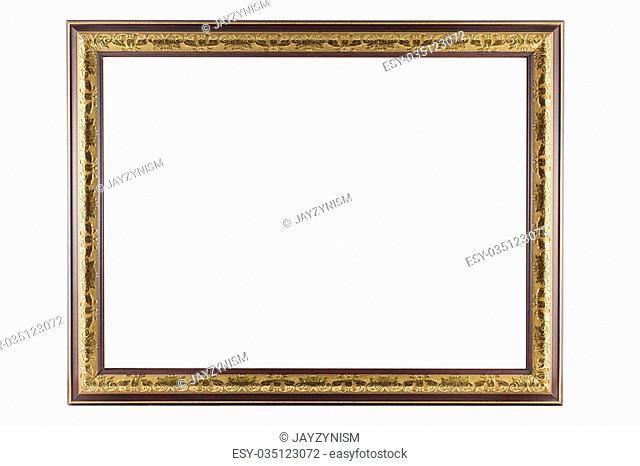 Bronze and Gold Frame vintage isolated on white background
