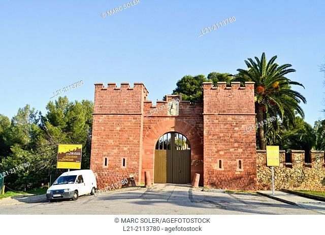 Castle. Castelldefels, Baix Llobregat, Catalonia, Spain