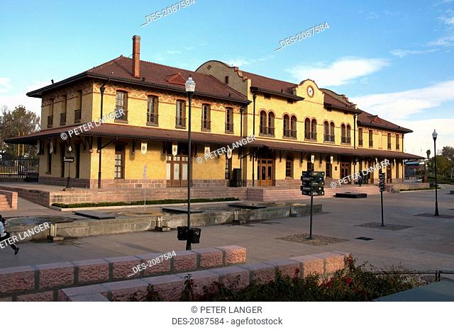 Old Railway Station At Plaza Tres Centurias, Aguascalientes, Mexico