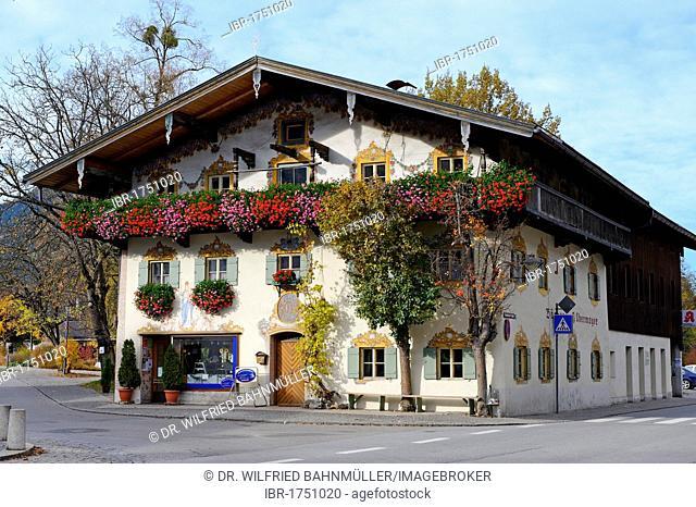 Former farm house, Oberaudorf, Bavarian Inn Valley, Upper Bavaria, Germany, Europe