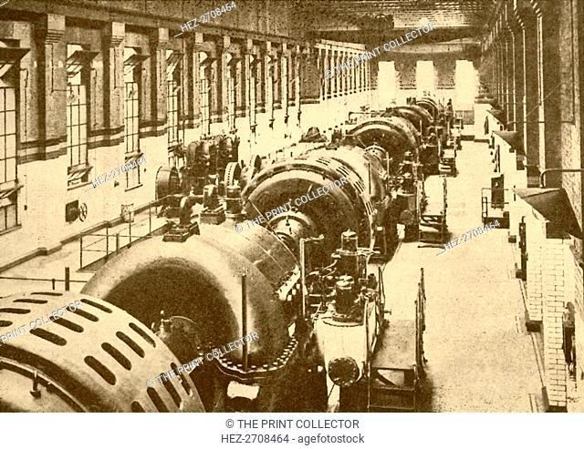 'Turbo-Generators at Neasden Power House, Metropolitan Railway', 1930. Creator: Unknown