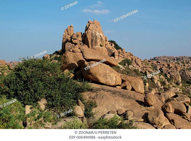 Granite mountain near Hampi, India