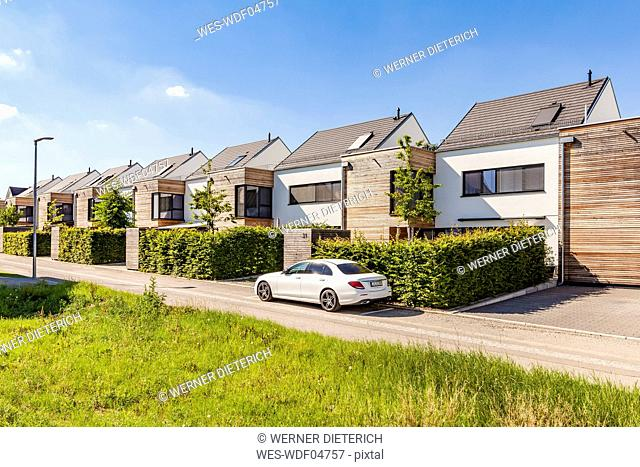 Germany, Baden-Wuerttemberg, Stuttgart, Ostfildern, modern efficiency houses