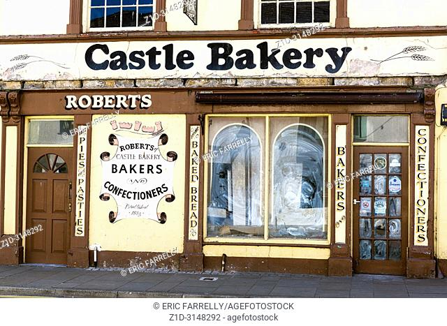 Closed down small bakery business. Beaumaris. Anglesey North Wales UK