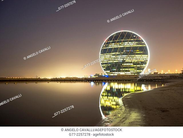 Aldar HQ circular building in Abu Dhabi, UAE