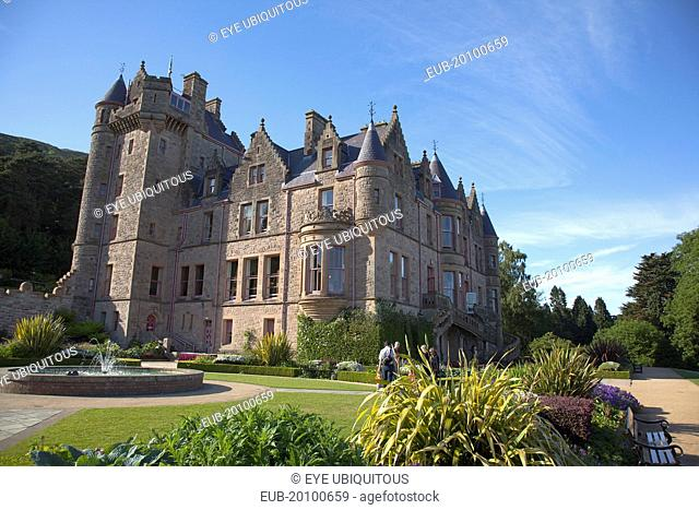 County Antrim Belfast Castle with ornate gardens and grounds over looking the city and Lough