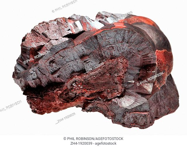 Hematite / Haematite / Red Ochre Cumbria, UK. Iron Oxide and pricipal ore of iron
