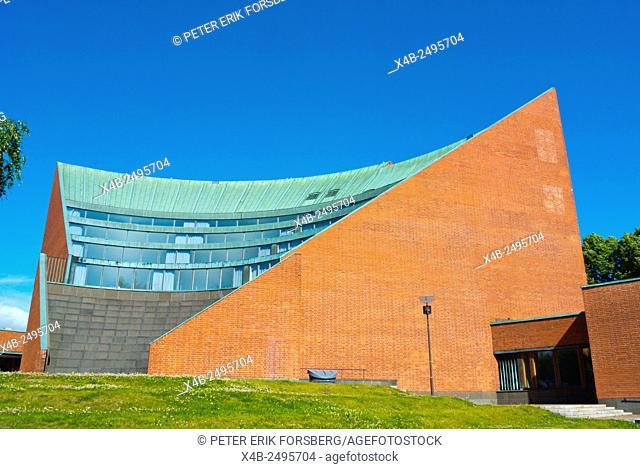 Auditorium, design by Alvar Aalto, Helsinki University of Technology (TKK), part of Aalto University, Otaniemi, Espoo, Finland