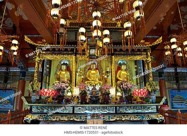 China, Hong Kong, Lantau Island, Po Lin Monastery, Welto Buddhist Temple