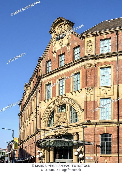 Malmaison boutique hotel in the former Leeds City Tramways Office in Swinegate Leeds West Yorkshire England