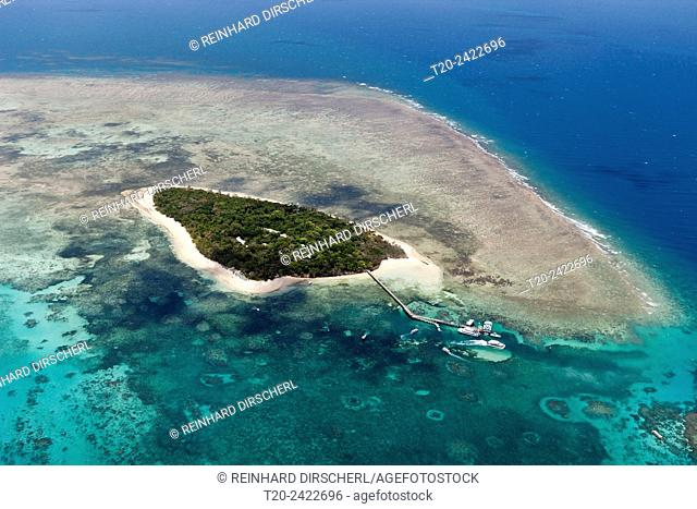 Aerial View of Green Island, Great Barrier Reef, Queensland, Australia