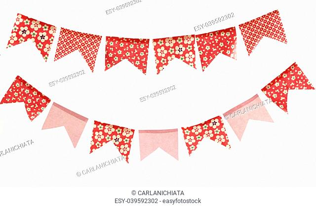 Decorative banners. Cute flags