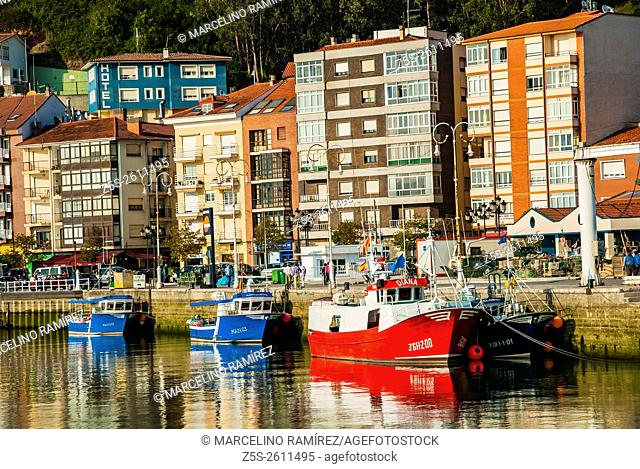 Fishing Port in the town of Ribadesella. Asturias, Spain
